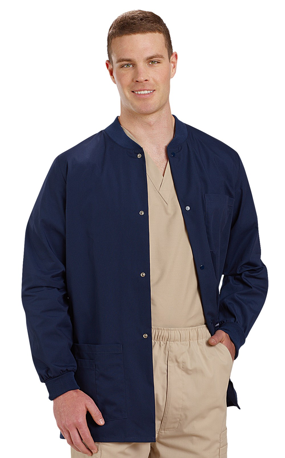 Landau Men S Warm Up Scrub Jacket Veterinary Apparel