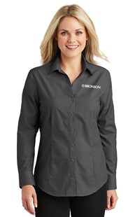 Special-Programs-Bronson-Career-Wear | Bronson Career Wear | Bronson Women's Long Sleeve Shirt Soft Black