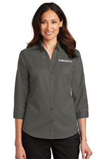 Special-Programs-Bronson-Career-Wear | Bronson Career Wear | Bronson Women's 3/4 Sleeve Shirt Charcoal