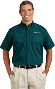 | Bronson Career Wear | Bronson Men's Short Sleeve Twill Shirt