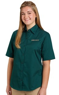 | Bronson Career Wear | Bronson Women's Short Sleeve Twill Shirt
