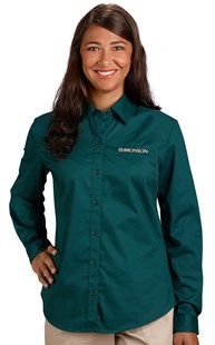 | Bronson Career Wear | Bronson Women's Long Sleeve Twill Shirt