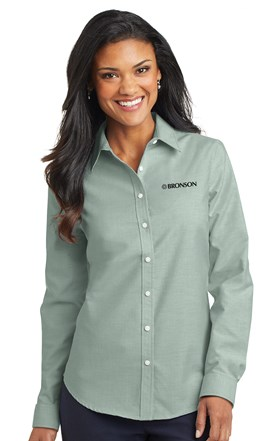 Bronson Women's Oxford Shirt Green Image