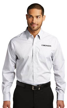 Bronson Men's Shirt White/Dark Grey Image