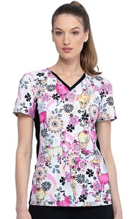 Fashion_Prints | Cherokee | IFlex Print Scrub Top Lovely Llamas