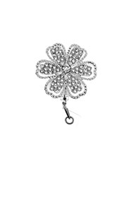Accessories-Retractable-Badge-Clips |  | Rhinestone Badge Reel - Wildflower