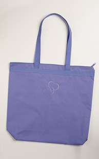 Accessories-Bags-and-Totes |  | Zipper Tote with Hearts