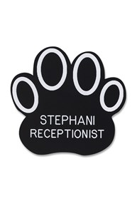 Accessories-Engraving-Engraved-Name-Tags |  | Novelty Badge Paw Outline
