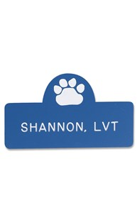 Accessories-Engraving-Engraved-Name-Tags |  | Novelty Badge Paw Print