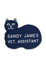 Accessories-Engraving |  | Novelty Badge Rounded Cat