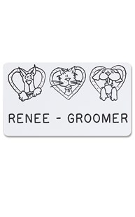 Accessories-Engraving |  | Novelty Badge Sweethearts