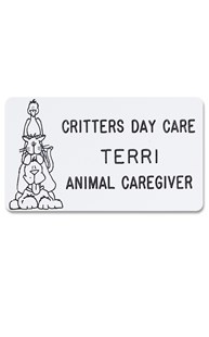 Accessories-Engraving |  | Novelty Badge Tweet, Meow, Ruff
