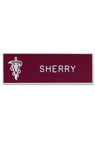Accessories-Engraving-Engraved-Name-Tags |  | Engraved Badge with Emblem
