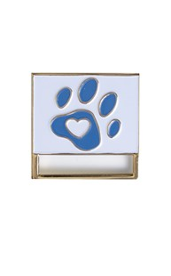 Accessories-Engraving-Engraved-Name-Tags | Clipeze | Paw Print Badge Holder