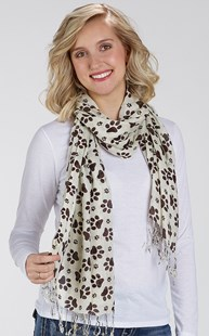 Accessories-Gifts-and-Fun-Stuff |  | Paw Print Fashion Scarf