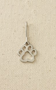 Accessories-Gifts-and-Fun-Stuff-Zipper-Pulls |  | Pewter Open Paw Zipper Pull