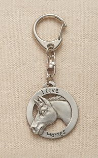 Accessories-Gifts-and-Fun-Stuff |  | Pewter Horse Keychain