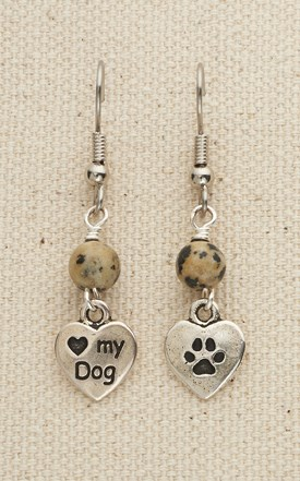 Love My Dog Earrings Image