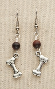 |  | Dog Bone Earrings