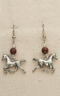 Accessories-Gifts-and-Fun-Stuff |  | Dancing Horse w/ Stone Earrings