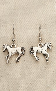 |  | Pewter Dancing Horse Earrings