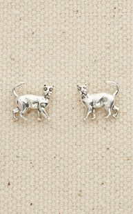 |  | Sterling Small Cat Post Earrings