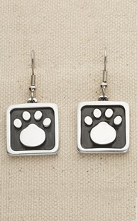 |  | Alumenart Square Paw Earrings