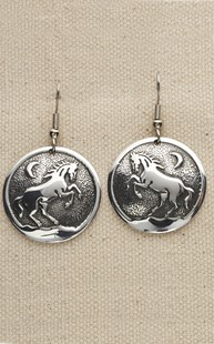 Accessories-Gifts-and-Fun-Stuff |  | Alumenart Circle Horse Earring