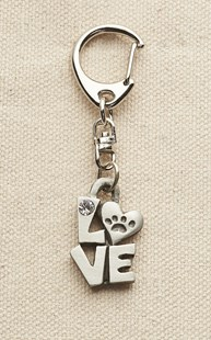 Accessories-Gifts-and-Fun-Stuff-Fun-Paw-Stuff |  | Pewter Love Keychain