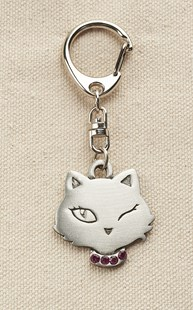 Accessories-Gifts-and-Fun-Stuff |  | Pewter Cat Face Keychain