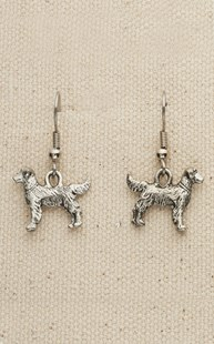 Accessories-Gifts-and-Fun-Stuff |  | Pewter Standing Dog Earrings