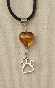 Accessories-Jewelry |  | Heart and Paw Pendant Gold