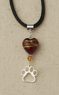 Accessories-Jewelry |  | Heart and Paw Pendant Ruby
