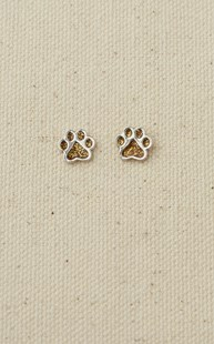 Accessories-Jewelry |  | Sterling Silver Paw Earrings Gold