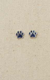 Accessories-Jewelry |  | Sterling Silver Paw Earrings Blue