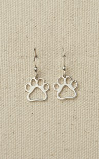 Accessories-Gifts-and-Fun-Stuff-Fun-Paw-Stuff |  | Sterling Silver Puppy Paw Earrings
