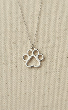Sterling Silver Puppy Paw Necklace Image