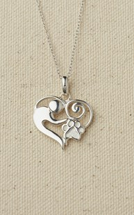 Accessories-Gifts-and-Fun-Stuff-Fun-Paw-Stuff |  | Sterling Silver Mother & Child Necklace