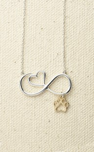 Accessories-Jewelry |  | Infinity Heart Pendant with 14k Paw