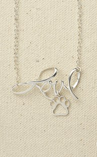 Accessories-Jewelry |  | Sterling Silver Love Pendant with Paw