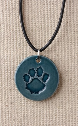 Ceramic Paw Necklace BLUE Image