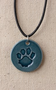 Accessories-Jewelry |  | Ceramic Paw Necklace BLUE