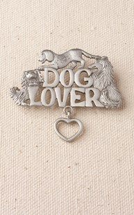 Accessories-Jewelry |  | Pewter Dog Lovers Pin