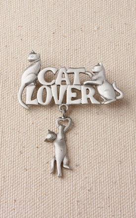 Pewter Cat Lovers Pin Image