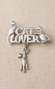Accessories-Jewelry |  | Pewter Cat Lovers Pin