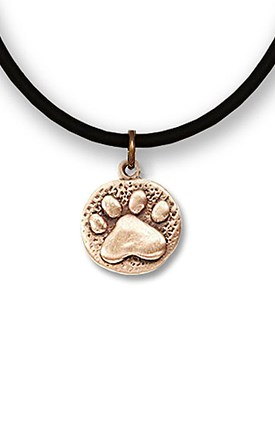 Bronze Paw Stamped Necklace Image