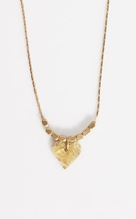 Accessories-Jewelry |  | Brass Hammered Heart Necklace