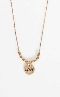 Accessories-Jewelry |  | Brass Hand Stamped Love Necklace