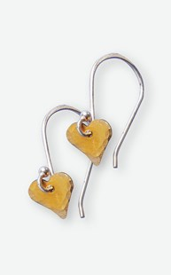 Accessories-Jewelry |  | Brass Hammered Hearts Earrings