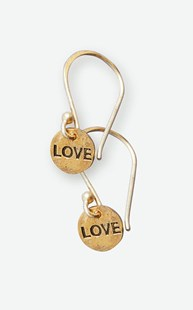 Accessories-Jewelry |  | Brass Hand Stamped Love Earrings